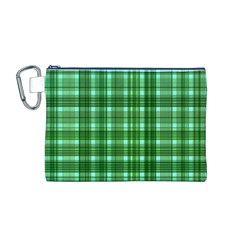 Plaid Forest Canvas Cosmetic Bag (M)