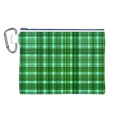 Plaid Forest Canvas Cosmetic Bag (L)