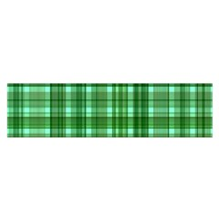 Plaid Forest Satin Scarf (Oblong)