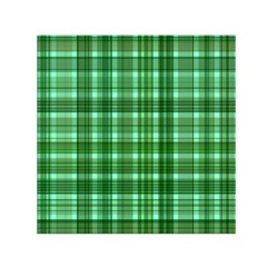 Plaid Forest Small Satin Scarf (Square)