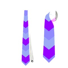 Chevron Blue Neckties (One Side)