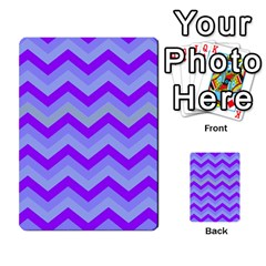 Chevron Blue Multi Purpose Cards (rectangle)
