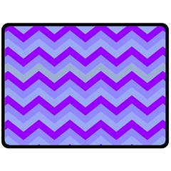 Chevron Blue Fleece Blanket (Large)