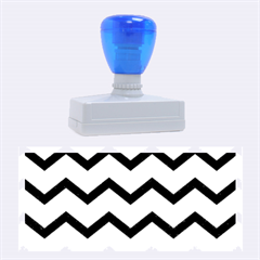 Chevron Blue Rubber Stamps (large)
