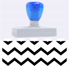 Chevron Blue Rubber Address Stamps (XL)