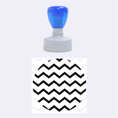 Chevron Blue Rubber Round Stamps (medium)