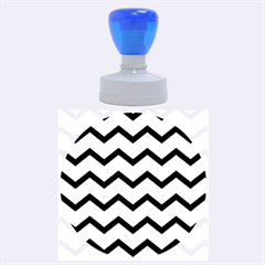 Chevron Blue Rubber Round Stamps (Large)