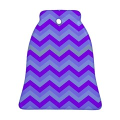 Chevron Blue Ornament (Bell)