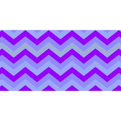 Chevron Blue YOU ARE INVITED 3D Greeting Card (8x4)