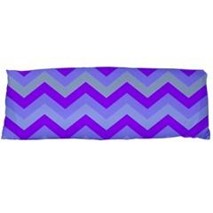 Chevron Blue Body Pillow Cases (Dakimakura)