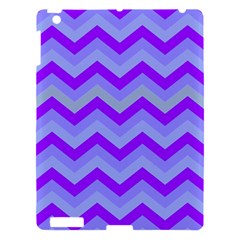 Chevron Blue Apple Ipad 3/4 Hardshell Case
