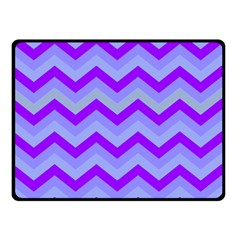 Chevron Blue Double Sided Fleece Blanket (small)