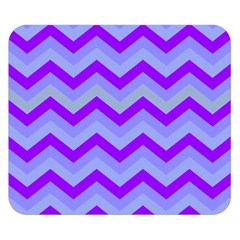 Chevron Blue Double Sided Flano Blanket (Small)
