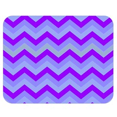 Chevron Blue Double Sided Flano Blanket (Medium)