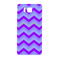Chevron Blue Samsung Galaxy Alpha Hardshell Back Case