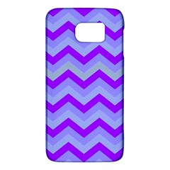 Chevron Blue Galaxy S6