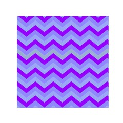 Chevron Blue Small Satin Scarf (square)