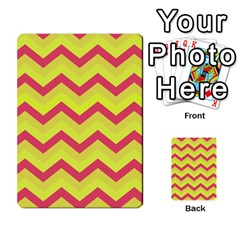 Chevron Yellow Pink Multi-purpose Cards (Rectangle)