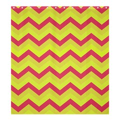 Chevron Yellow Pink Shower Curtain 66  x 72  (Large)