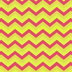 Chevron Yellow Pink Magic Photo Cubes