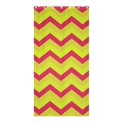 Chevron Yellow Pink Shower Curtain 36  x 72  (Stall)