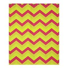 Chevron Yellow Pink Shower Curtain 60  x 72  (Medium)