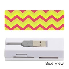 Chevron Yellow Pink Memory Card Reader (Stick)