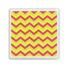 Chevron Yellow Pink Memory Card Reader (Square)
