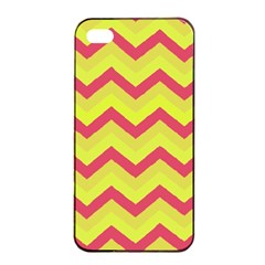 Chevron Yellow Pink Apple Iphone 4/4s Seamless Case (black)