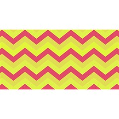 Chevron Yellow Pink YOU ARE INVITED 3D Greeting Card (8x4)