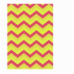Chevron Yellow Pink Large Garden Flag (Two Sides)