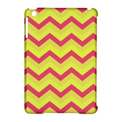 Chevron Yellow Pink Apple Ipad Mini Hardshell Case (compatible With Smart Cover)