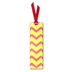 Chevron Yellow Pink Small Book Marks