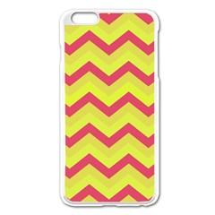 Chevron Yellow Pink Apple Iphone 6 Plus Enamel White Case