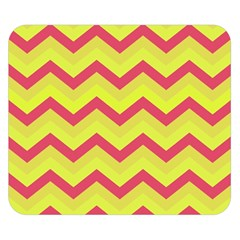 Chevron Yellow Pink Double Sided Flano Blanket (small)