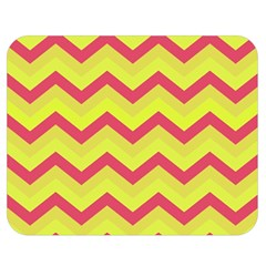 Chevron Yellow Pink Double Sided Flano Blanket (medium)