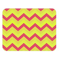 Chevron Yellow Pink Double Sided Flano Blanket (Large)