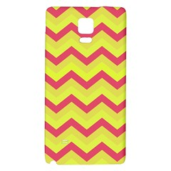 Chevron Yellow Pink Galaxy Note 4 Back Case