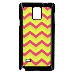 Chevron Yellow Pink Samsung Galaxy Note 4 Case (black)