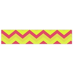 Chevron Yellow Pink Flano Scarf (Small)