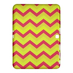 Chevron Yellow Pink Samsung Galaxy Tab 4 (10.1 ) Hardshell Case