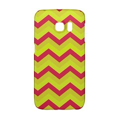 Chevron Yellow Pink Galaxy S6 Edge
