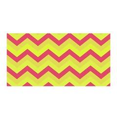 Chevron Yellow Pink Satin Wrap