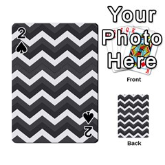 Chevron Dark Gray Playing Cards 54 Designs