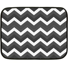 Chevron Dark Gray Fleece Blanket (Mini)