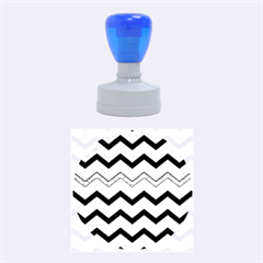 Chevron Dark Gray Rubber Round Stamps (Medium)