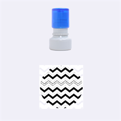 Chevron Dark Gray Rubber Round Stamps (small)