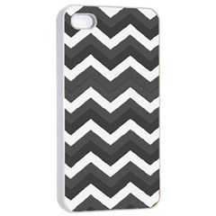Chevron Dark Gray Apple Iphone 4/4s Seamless Case (white)