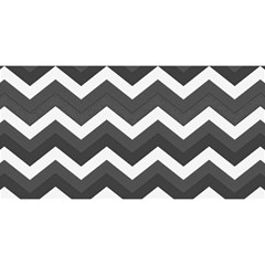 Chevron Dark Gray You Are Invited 3d Greeting Card (8x4)