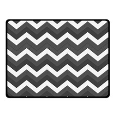 Chevron Dark Gray Double Sided Fleece Blanket (Small)